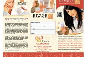 Flyer Design (RIVAGE cosmetics)